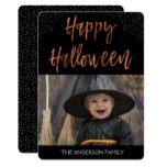 Happy Halloween Modern Halloween Photo Card #halloween #happyhalloween #halloweenparty #halloweenmakeup #halloweencostume