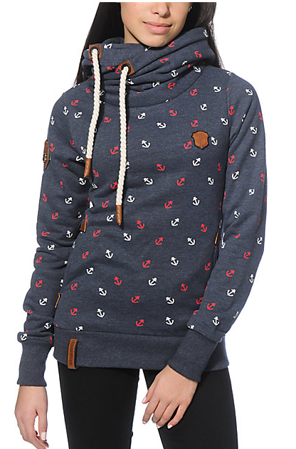 Naketano Anchor hoodie, size medium