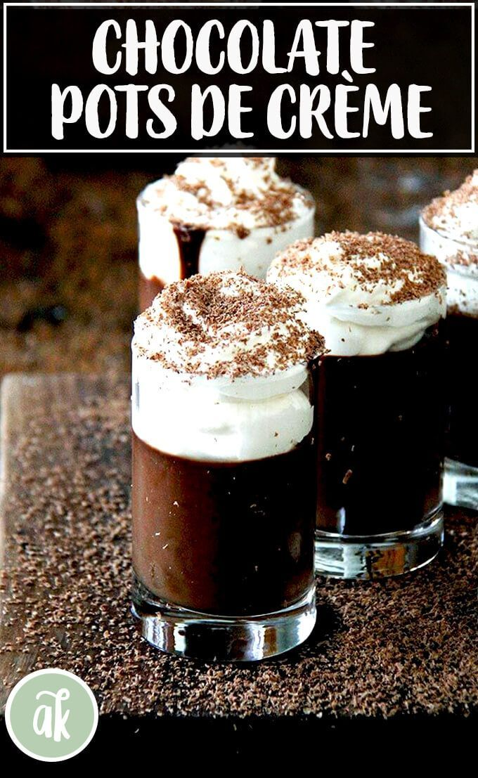 Chocolate Pots de Crème Stovetop Method No Water Bath  Ready in 1 Hour  Fall Baking Recipes