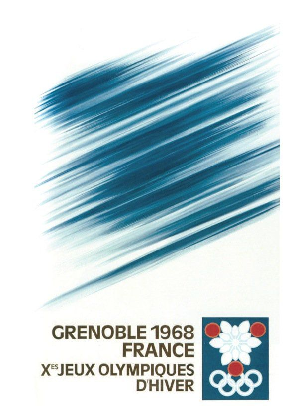 Poster concept for 1968 Grenoble Olympic Games by Roger Excoffon  #frosty  via @wayneford