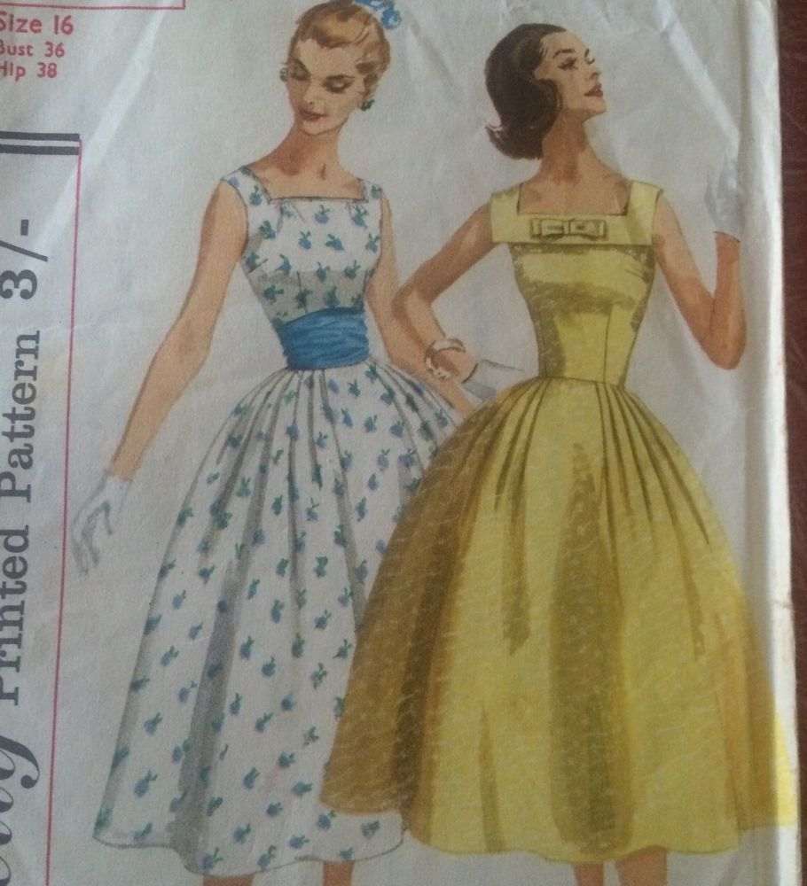 Vintage original 50s 60s womans ladies dress sewing pattern vintage original 50s 60s womans ladies dress sewing pattern simplicity pinup jeuxipadfo Choice Image