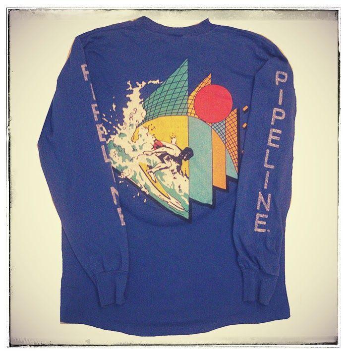aeceecb9 Vintage 80s Pipeline T-shirt   70s Cαℓi вєαςн Surf ѕкαтє ...
