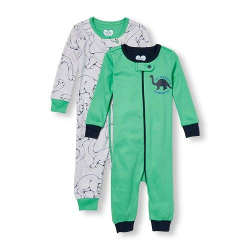 Baby And Toddler Boys Long Sleeve 'My Daddy Is Dino-Mite' And Dinosaur