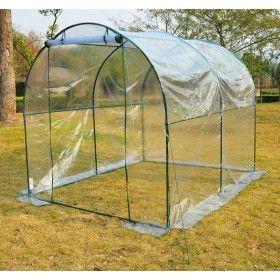 Invernadero caseta 250x200x200 acero plastico jardin - Invernaderos para terrazas ...