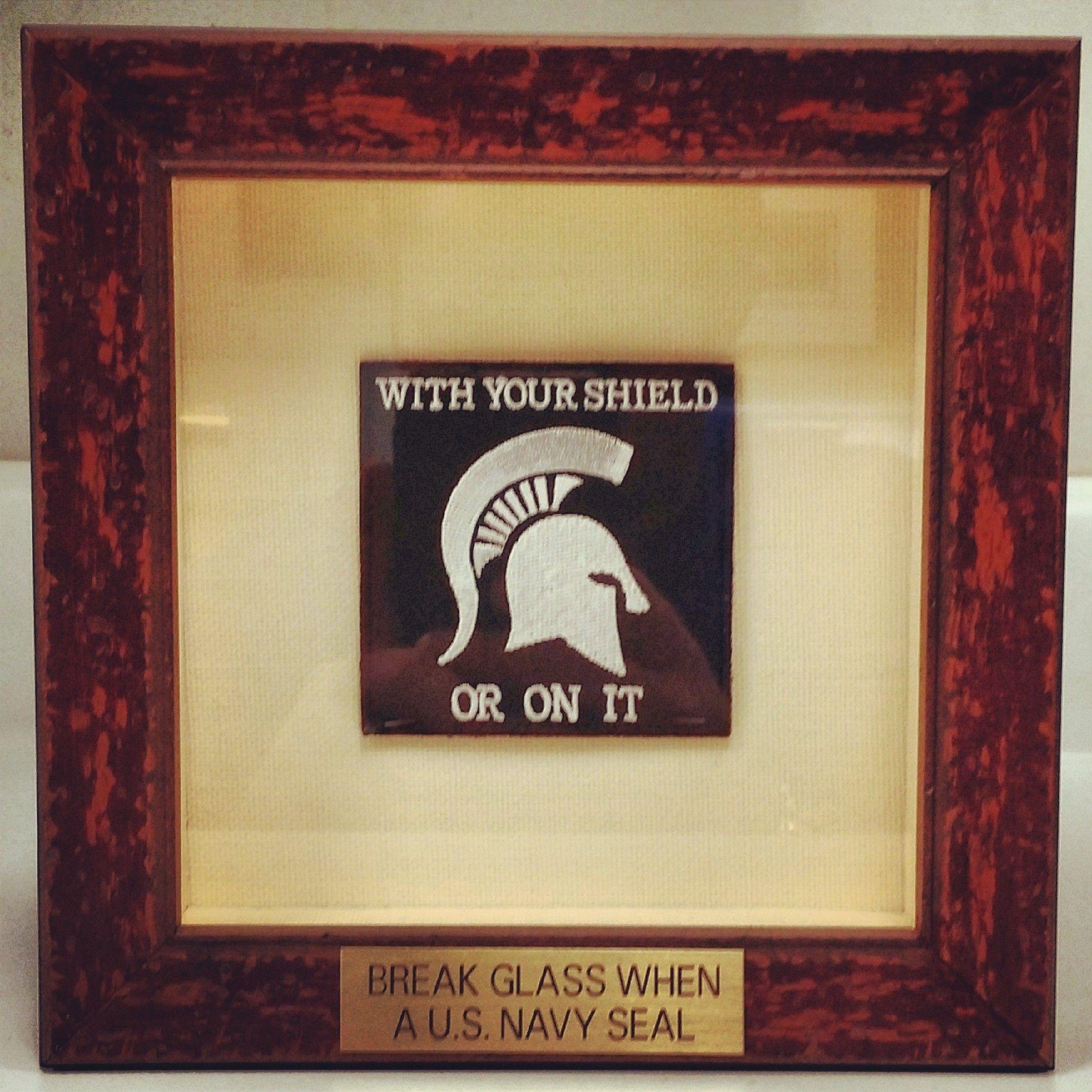 Break When A US Navy Seal framed in a rustic @Larson-Juhl shadowbox ...