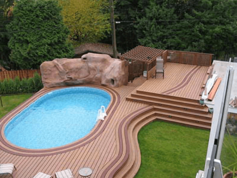 Complement Your Pool With These 5 Inspiring Pool Deck Designs Rengusuk Com Backyard Pool Backyard Pool Landscaping In Ground Pools