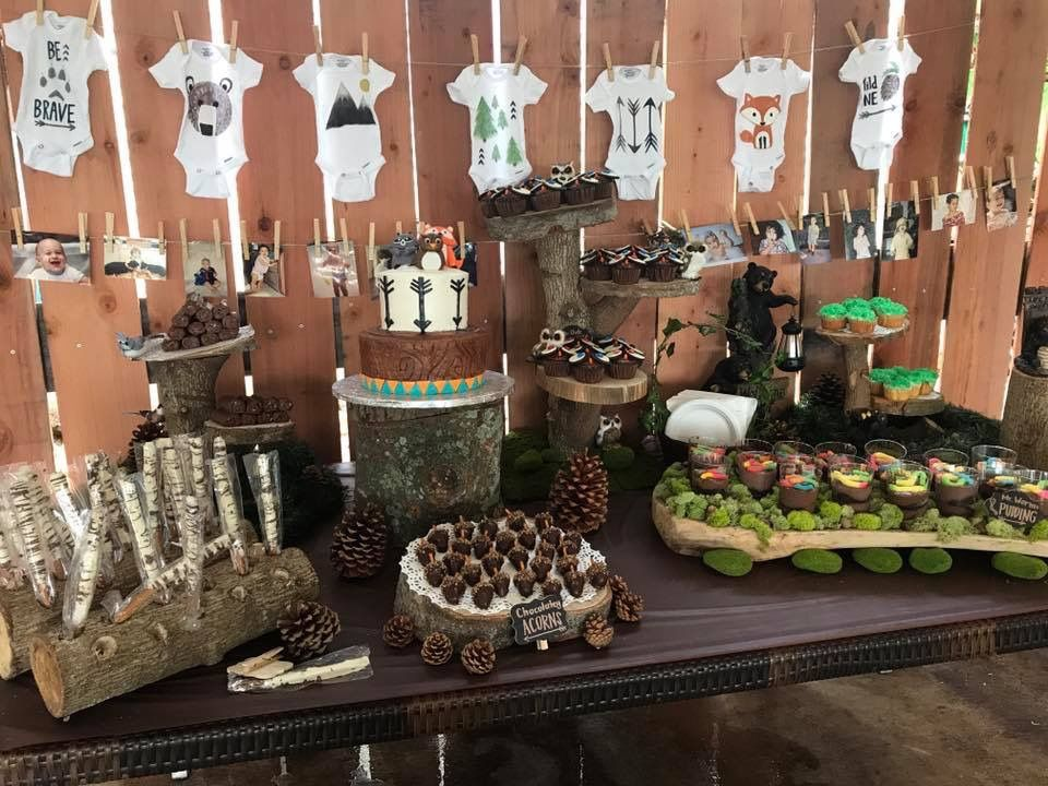 Woodland Forest Or Wild At Heart Themed Baby Shower Vegan Two