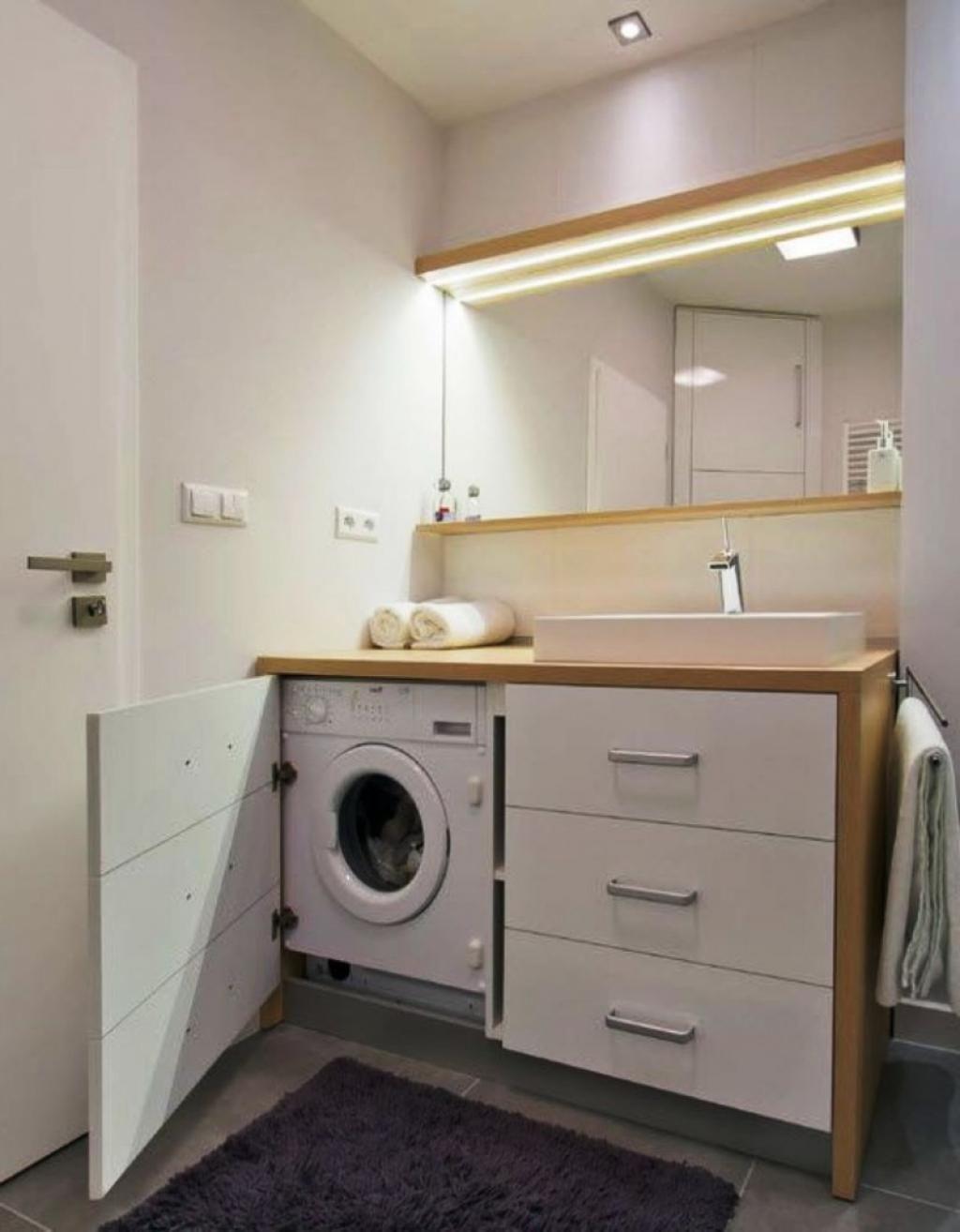 bathroom with washing machine  baño con lavadora cuartos