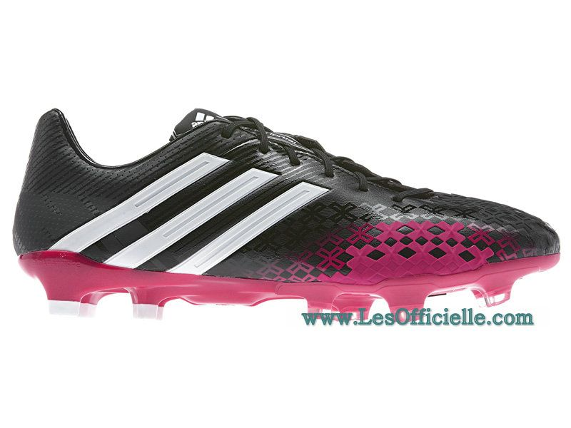 chaussures de foot adidas predator lz trx fg noir rose
