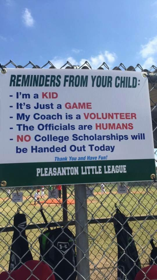 A Sign Every Baseball Field Needs Funny Pictures Little League Funny
