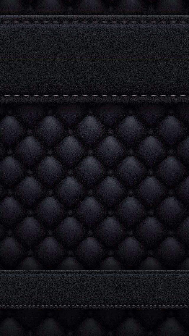 Navy Blue And Black Quilted Textured 3d Wallpaper Chrome