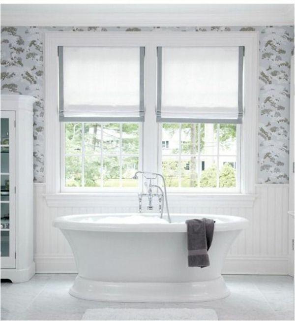 rollo selber machen weiß raffrollo nähanleitung design DIY - rollos für badezimmer