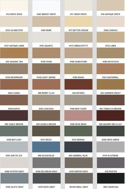 Polyblend Grout Renew Color Chart