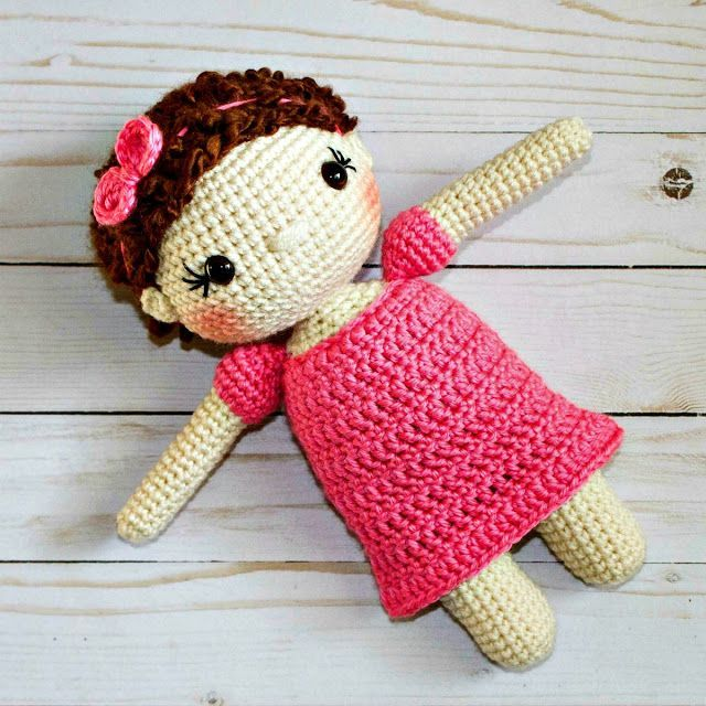 Free Crochet Doll Pattern The Friendly Mae Crochet Doll Pattern