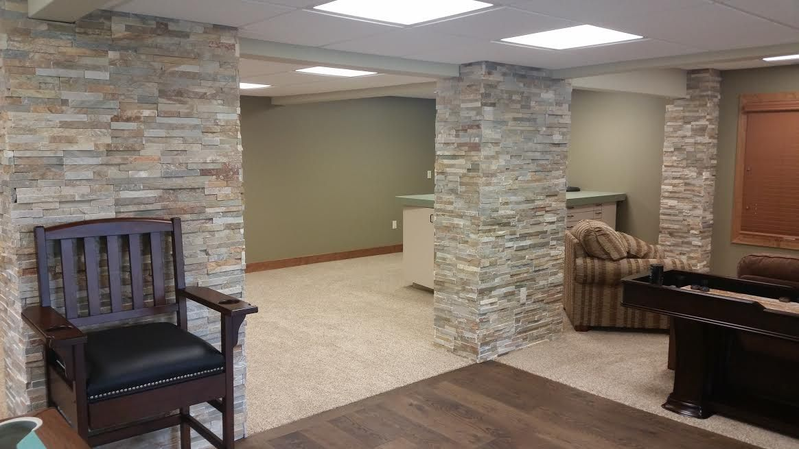 Basement Stone Columns Stone Pictured Is Sierra Shadowstone From