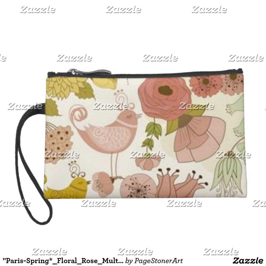 """Paris-Spring*_Floral_Rose_Multi Colors_Travel Bag"
