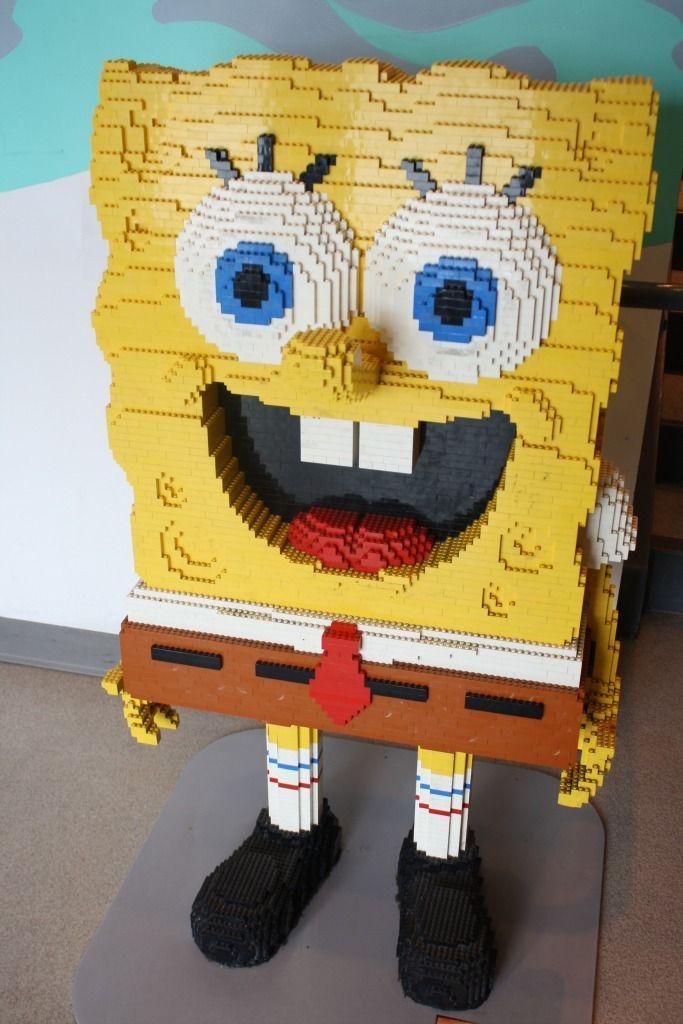 Spongebob Hanging Out At Legoland California Lego Sea Life