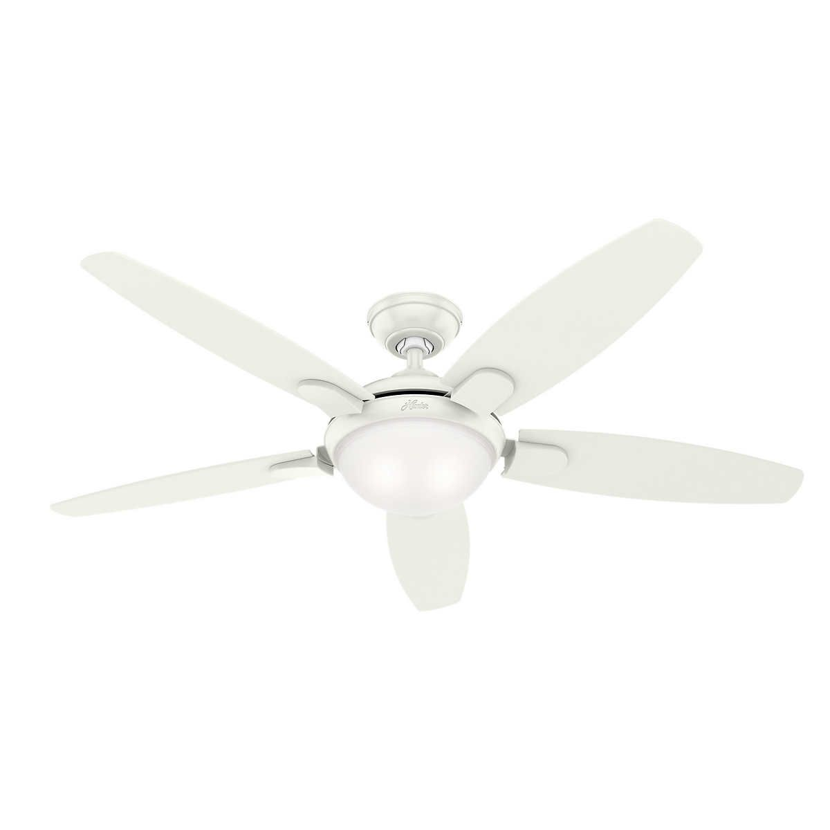 Hunter Led 54 Contempo Ii Ceiling Fan In 2020 Ceiling Fan Led Ceiling Fan Ceiling Fan With Remote