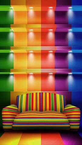 too much color? ; ) Rainbow Color home decor / furniture