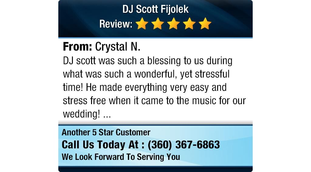 Dj scott was such a blessing to us during what was such a