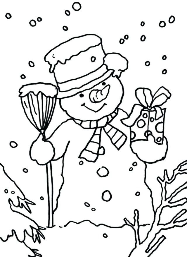 23 Beautiful Picture Of Dltk Coloring Pages Snowman