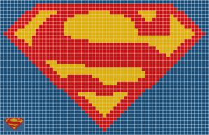 Superman Logo Crochet Pinterest Superman Logo Perler