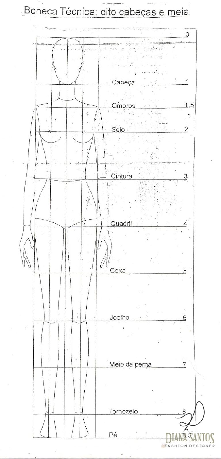 Desenhando croqui de moda #1