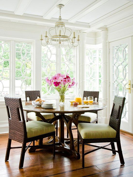 Breakfast Nooks: Round Table, Surrounded By Floor To Ceiling Windows