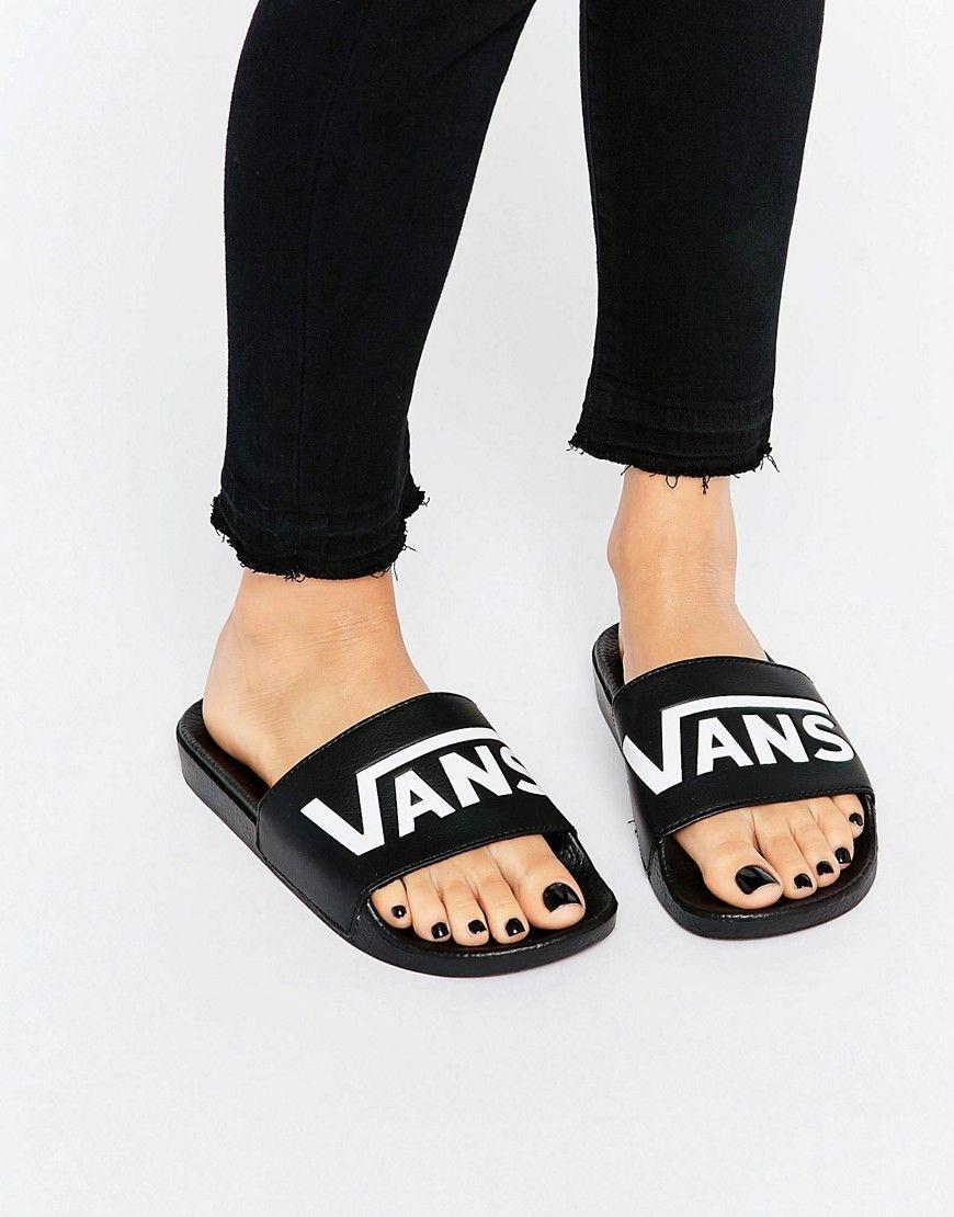 vans slides womens