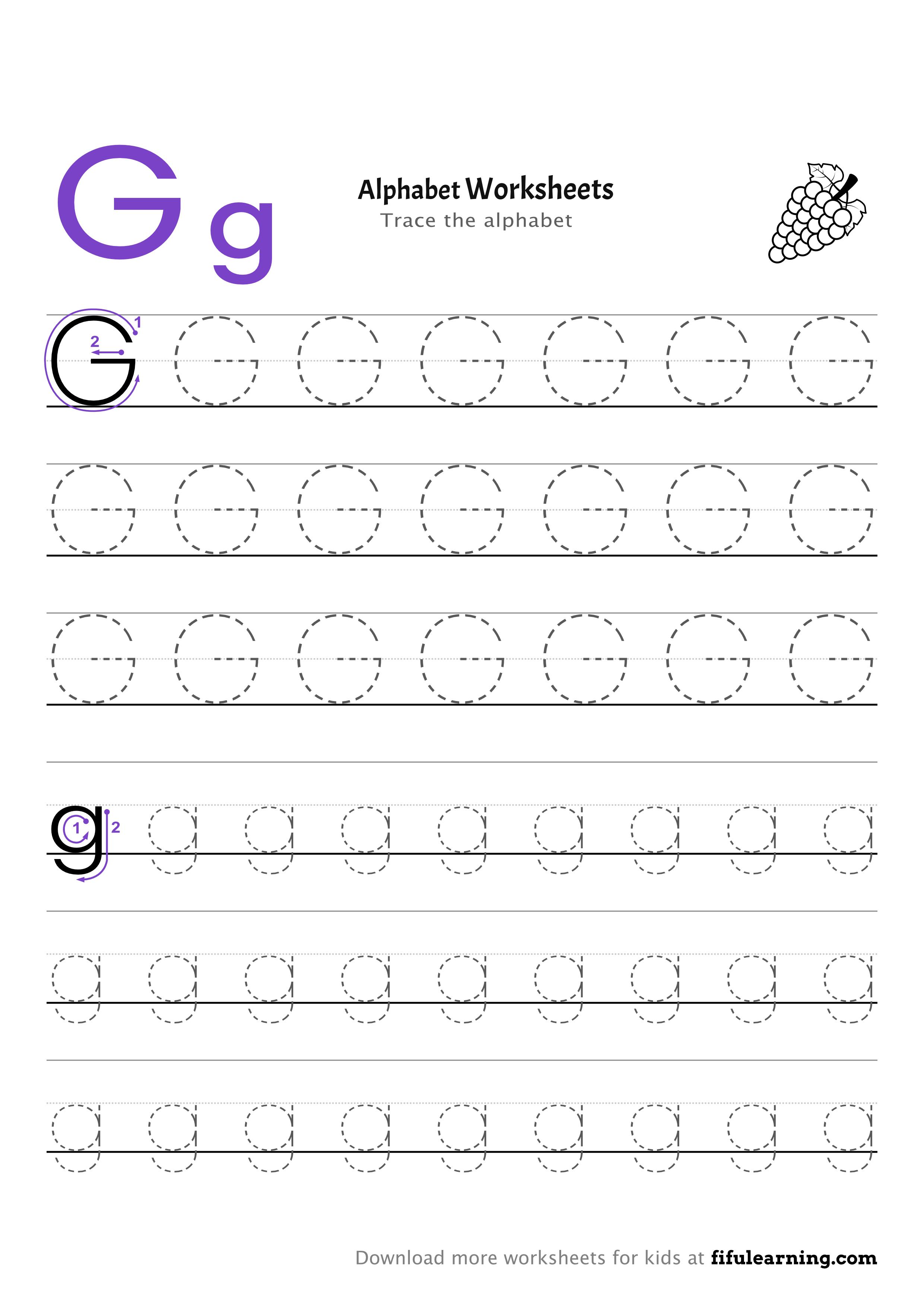 Tracing Alphabet Worksheet For Kids G G Worksheets Alphabet Worksheets Worksheets For Kids [ 3507 x 2480 Pixel ]