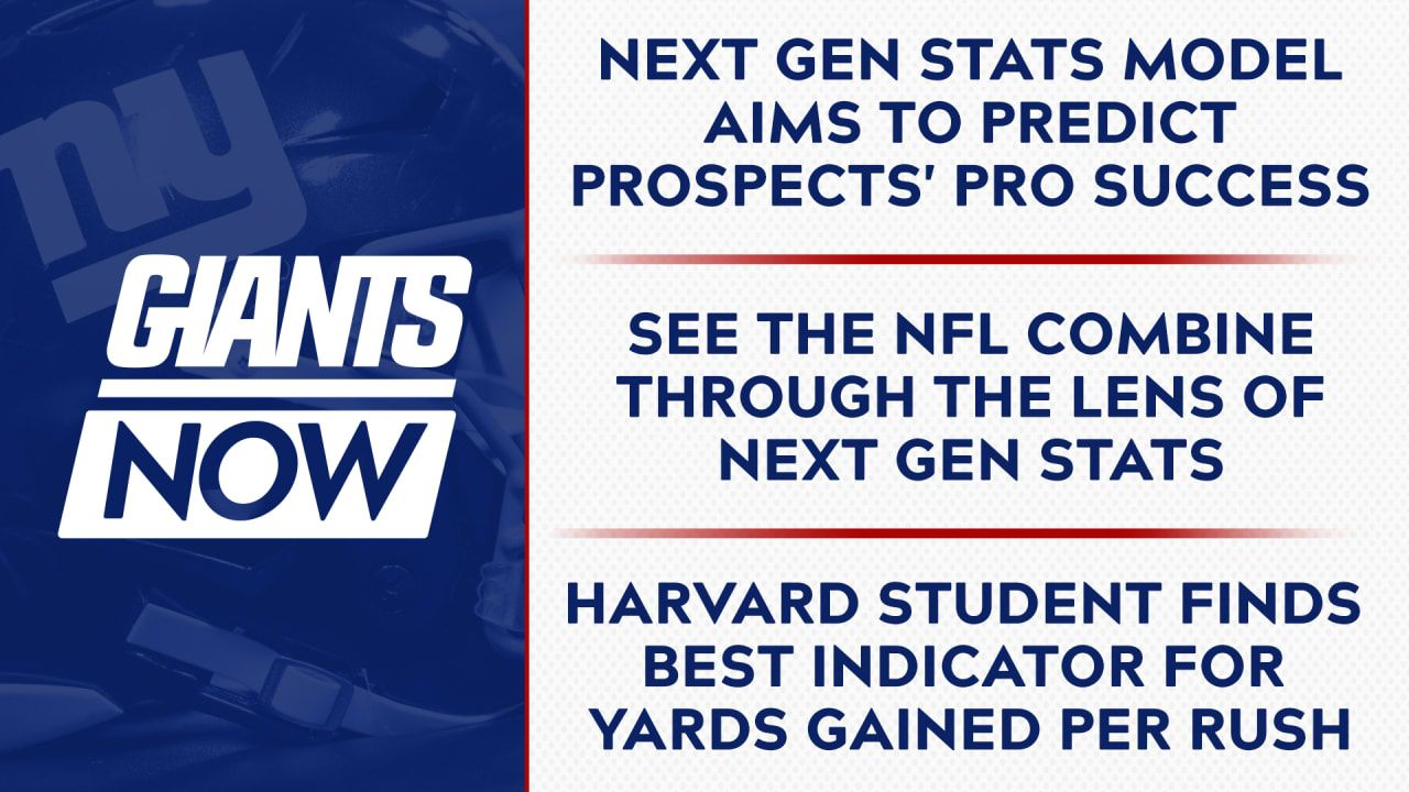 Giants Now 3 5 Next Gen Stats Draft Model Aims To Predict Prospects Pro Success National Football League News In 2020 National Football League