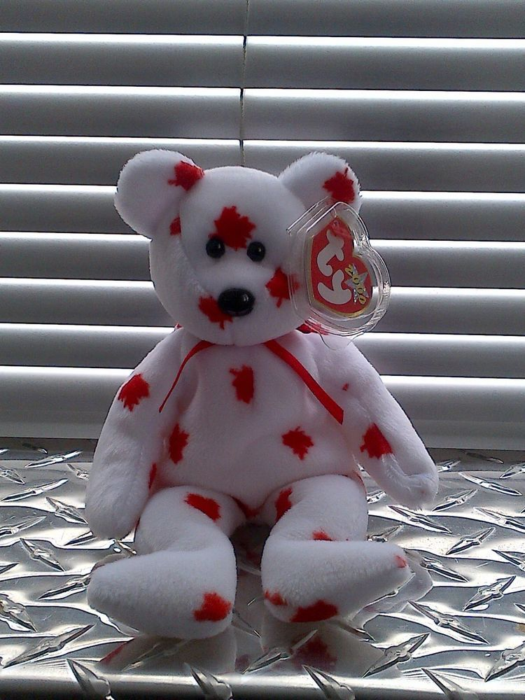 TY Chinook the Bear Beanie Baby Canada Exclusive Retired