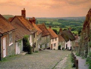 Gold Hill, Dorset England