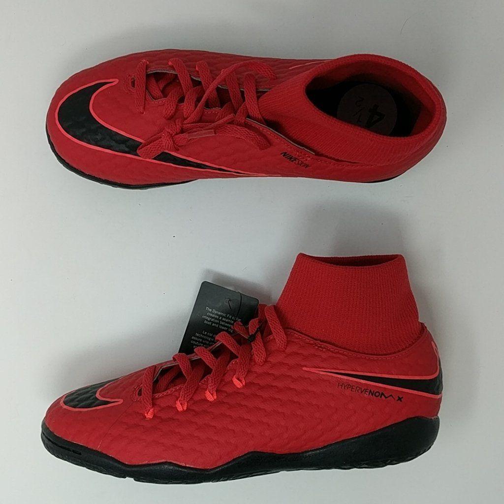 super popular a762b 3315c Nike JR HypervenomX Phelon 3 DF IC University RedBlack GS 917774-616 –