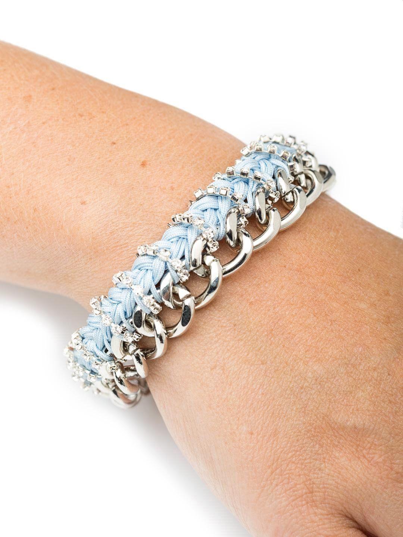 Bee charming jewelry thick chain rhinestone braid bracelet lbs