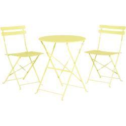 Photo of Balcony set lime 2 chairs Fiori BelianiBeliani