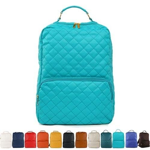 New Womens Fashion School Backpack Faux Leather Bookbag Girls Boys Quilted Bag | eBay