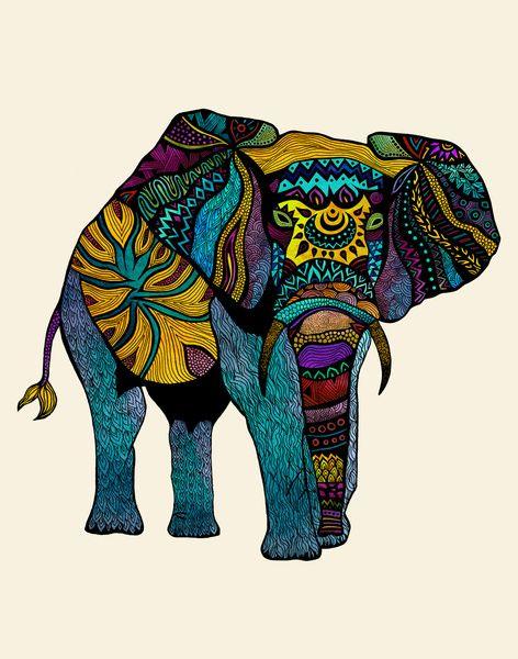 Elephant Art | Art Grade 1 | Pinterest | Dessin Couleur, Trompée