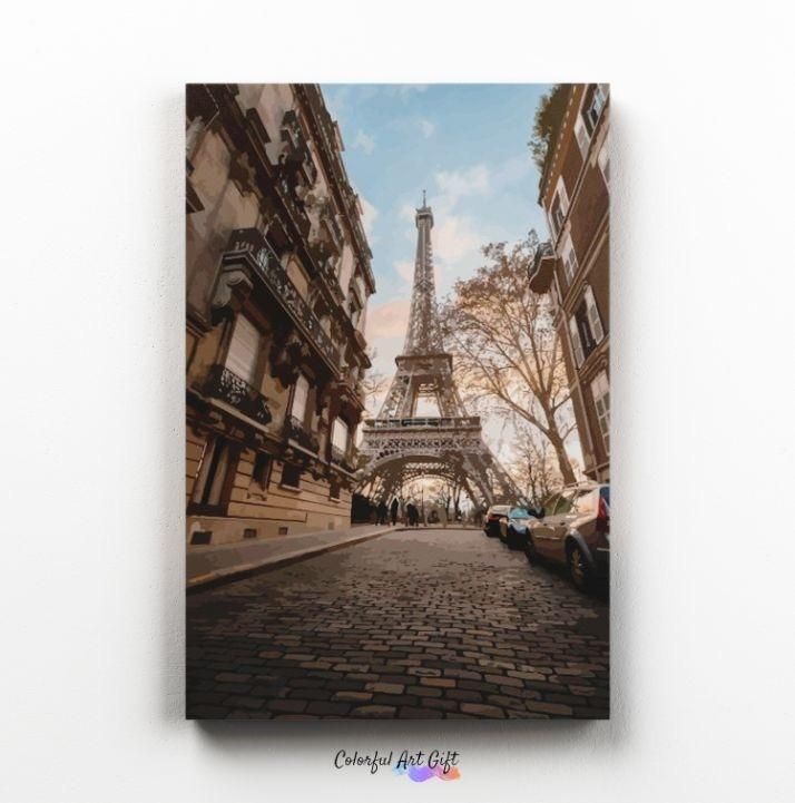 Photo of Paris – Paint by Numbers HD – 16 x 20 (40 x 50cm) / Framed