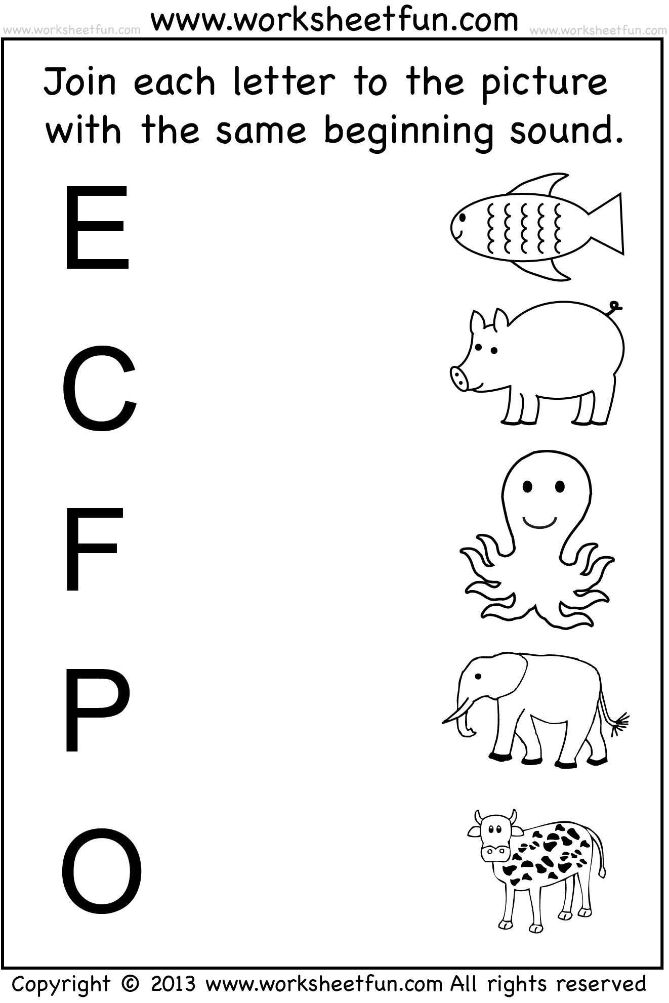 Beginning Sound - 7 Worksheets | Preschool Worksheets ...