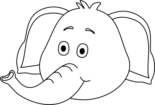 Black And White Elephant Face Clip Art Black And White Elephant Face Image Elephant Face Elephant White Elephant