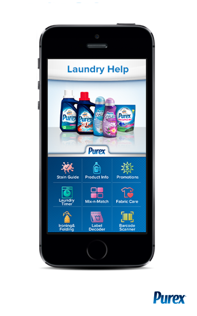 Download the FREE Purex Laundry Help App on iOS and