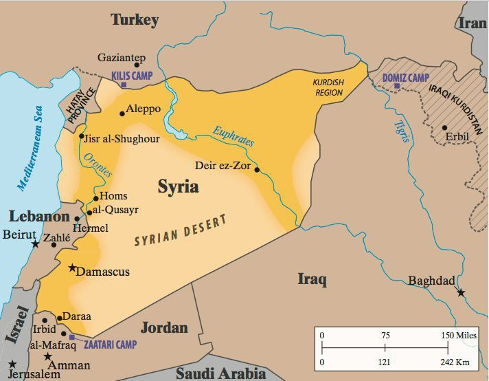Why aleppo is so important for isis and turkey syria and troops map syria desertg gumiabroncs Choice Image