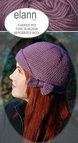 The Sans Limites Crochet Flapper Hat is featured on Elann's website today!  Check it out!