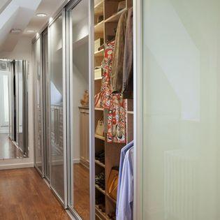 Transform Tall Sliding Closet Doors With Mirrored Glass