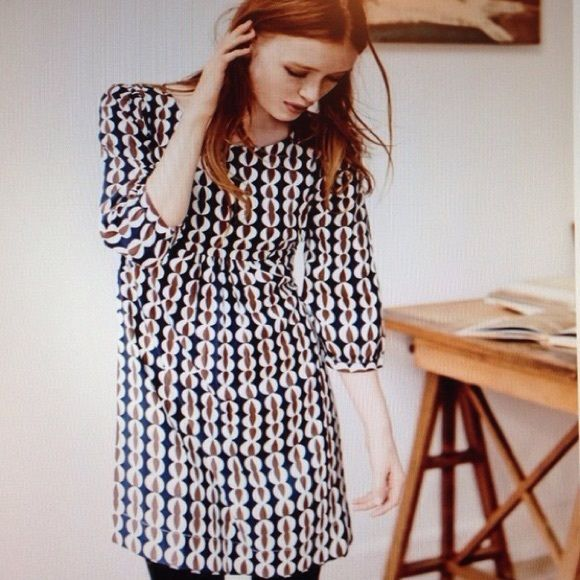 Boden womens dress 8 long Gorgeous. Worn once after having a baby for family pics. Very forgiving shape. 8 long Boden Dresses Long Sleeve