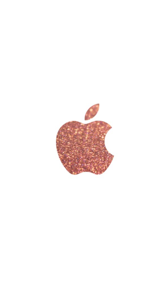 Rose Gold Apple Logo Wallpaper Iphone 6 Wallpaper Backgrounds Iphone Wallpaper Glitter Apple Logo Wallpaper