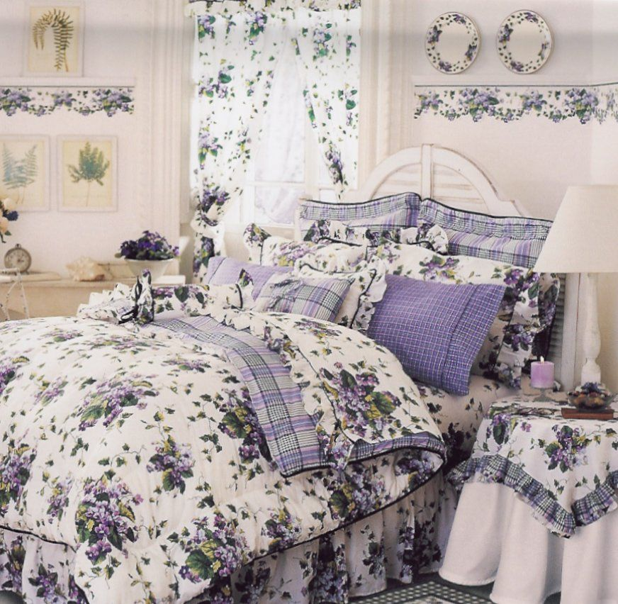 Image Detail For Garden Rooms From Target And Waverly Sweet Violets Waverly Bedding Matching Bedding And Curtains Beautiful Bedding