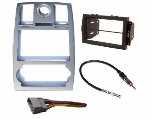 Chrysler 300 2005 2006 2007 Radio Stereo Car Install Double Din Navigation Silver Bezel Harness Antenna Adapter By Chrysl Car Stereo Navigation Chrysler 300