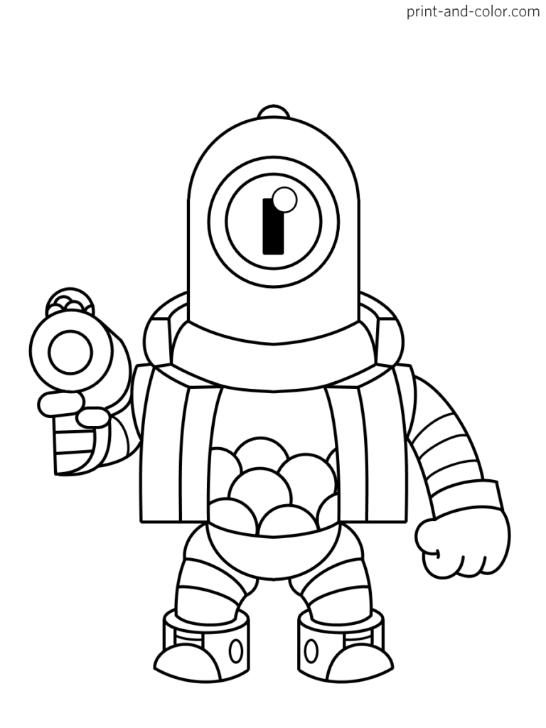 Brawl Stars Coloring Pages Print And Color Com Star Coloring Pages Coloring Pages Star Art